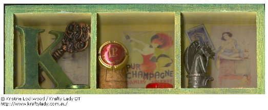 Kristine Lockwood Shadow Box Top Row